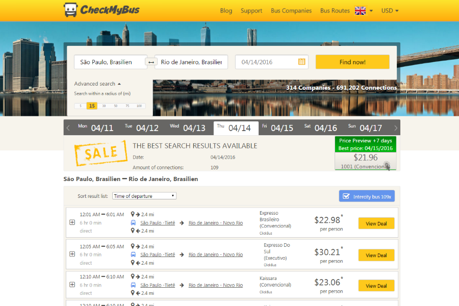 A global bus link – CheckMyBus and ClickBus partner in Brazil